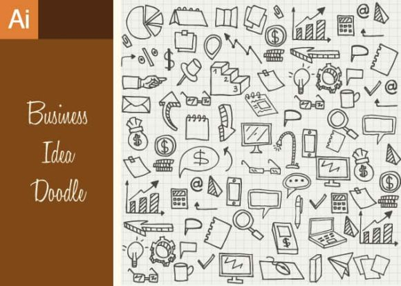 Business Idea Doodle Vector Set 1 1