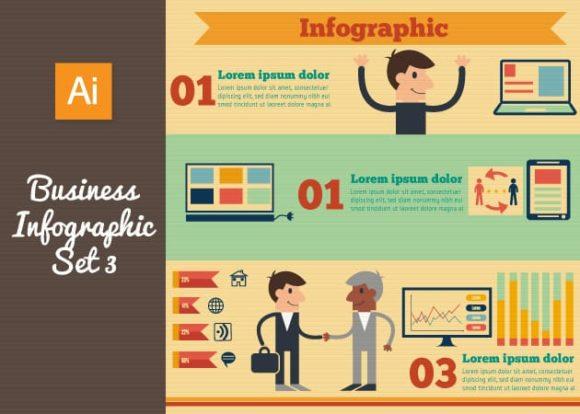 Business Vector Infographics Set 3 designtnt business vector infographics set 3 vector small