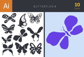 Butterflies Vector Set 8 Vector packs butterflies