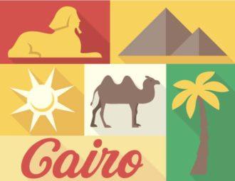 Cairo Vector Vector packs palm tree