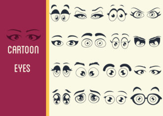 Cartoon Eyes Vector Set 1 Vector packs people