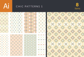 Chic Patterns Vector Set 1 Vector packs patterns