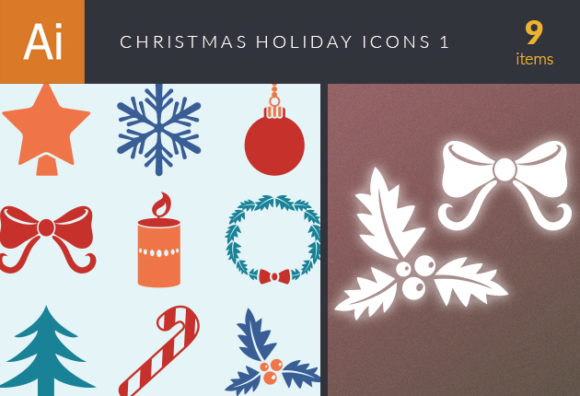 Christmas Holiday Icons Vector Set 1 designtnt christmas holiday icons vector set 1 vector small