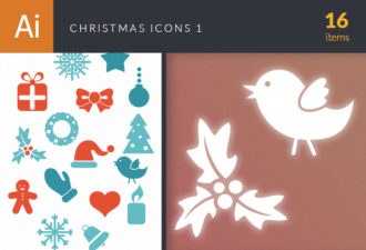 Christmas Icons Vector Set 1 Vector packs star