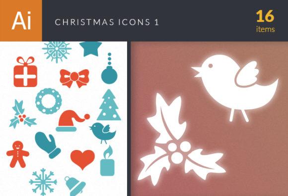 Christmas Icons Vector Set 1 designtnt christmas icons vector set 1 vector small