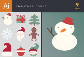 Christmas Icons Vector Set 2 Holidays ornament