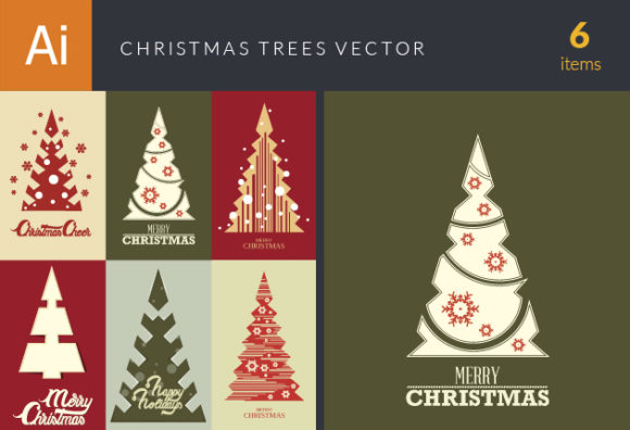 Christmas Trees Vector Set 18 designtnt christmas trees vector set 18 vector small