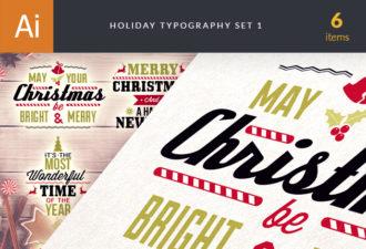 Christmas Typography Vector 1 Holidays christmas