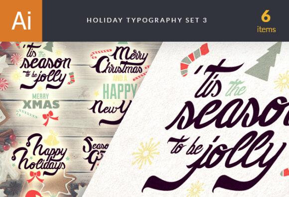 Christmas Typography Vector Set 3 designtnt christmas typography 3 vector small