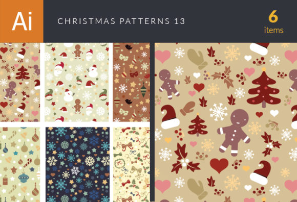 Christmas Vector Patterns Set 13 designtnt christmas vector patterns set 13 vector small