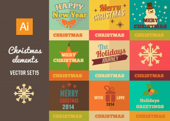 Christmas Vector Set 15 designtnt christmas vector set 15 vector small
