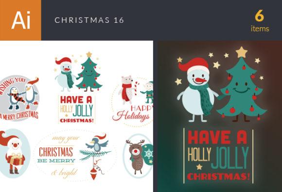 Christmas Vector Set 16 designtnt christmas vector set 16 vector small