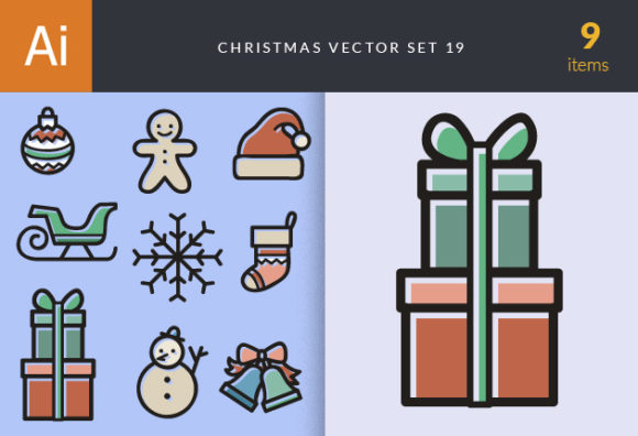Christmas Vector Set 19 designtnt christmas vector set 19 vector small