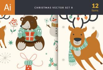 Christmas Vector Set 8 Holidays symbol