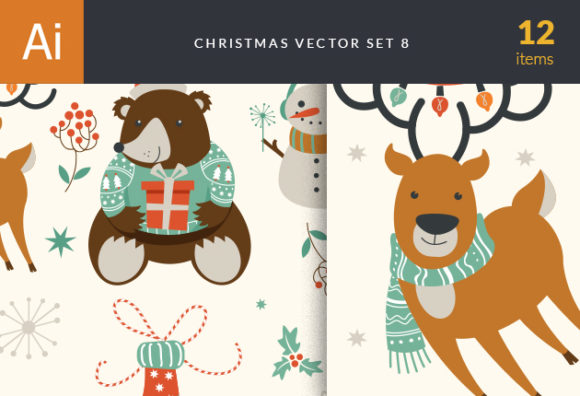 Christmas Vector Set 8 designtnt christmas vector set 8 vector small