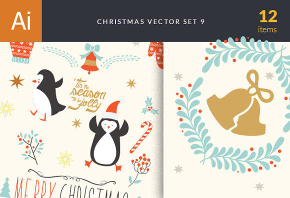 Christmas Vector Set 9 designtnt christmas vector set 9 vector small