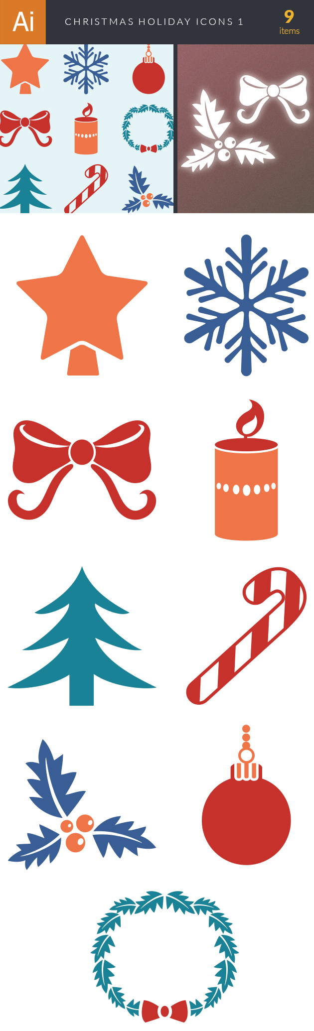 Christmas Holiday Icons Vector Set 1 designtnt christmas holiday icons vector set 1 vector large