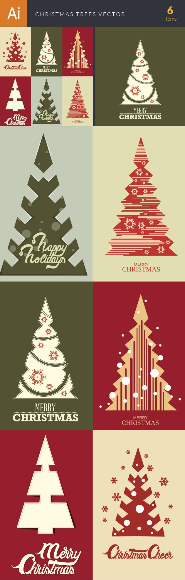 Christmas Trees Vector Set 18 designtnt christmas trees vector set 18 vector large