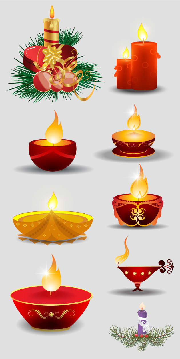 Christmas Candles Vector designtnt christmas vector candles vector large