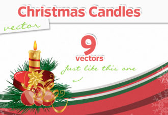 Christmas Candles Vector Vector packs christmas