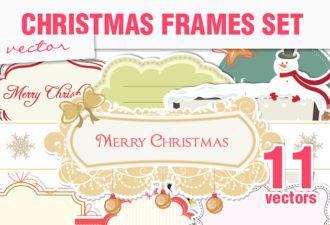 Christmas Vector Frames Holidays christmas
