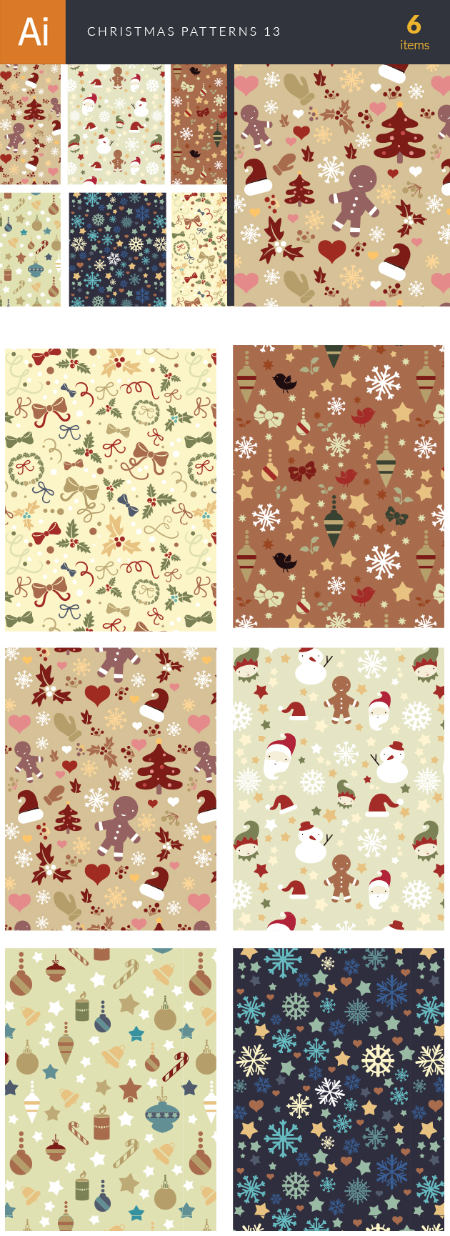 Christmas Vector Patterns Set 13 designtnt christmas vector patterns set 13 vector large