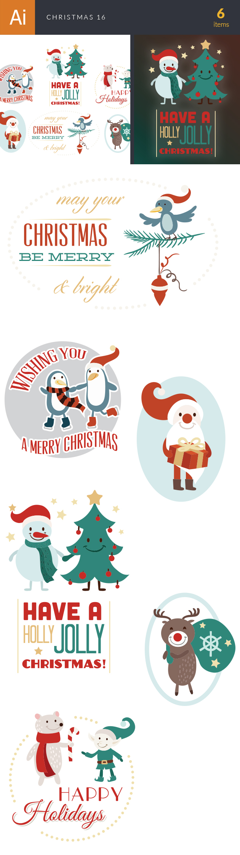 Christmas Vector Set 16 designtnt christmas vector set 16 vector large