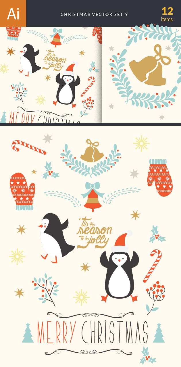 Christmas Vector Set 9 designtnt christmas vector set 9 vector large