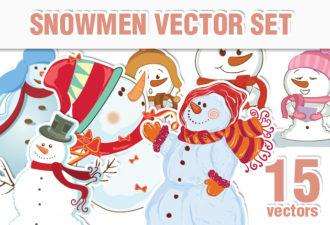 Christmas & Snowman Vector Holidays christmas