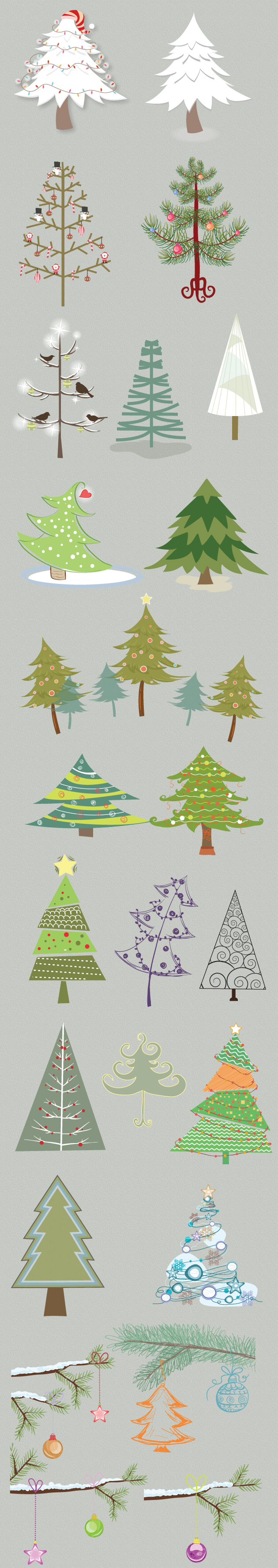 Christmas Vector Trees designtnt christmas vector trees vector large