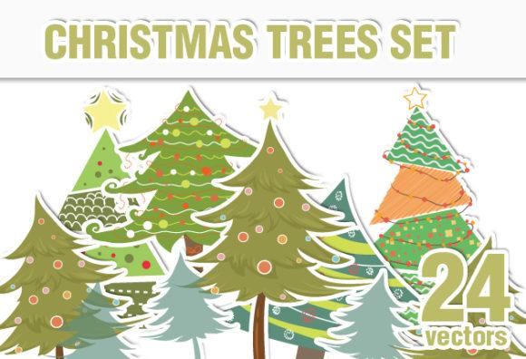Christmas Vector Trees designtnt christmas vector trees vector small