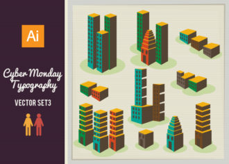 Cityscapes Vector Set 2 Vector packs structure