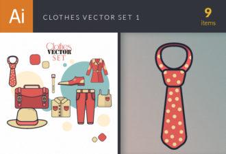 Clothes Vector Set 1 Vector packs retro