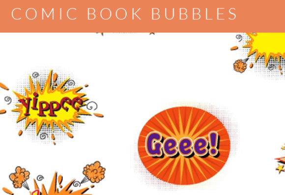 Comic Bubbles Vector Set 2 Vector packs abstract