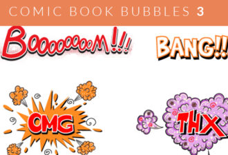 Comic Bubbles 2 Vector Vector packs abstract
