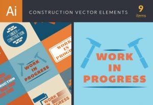 Construction Elements Vector Vector packs hammer