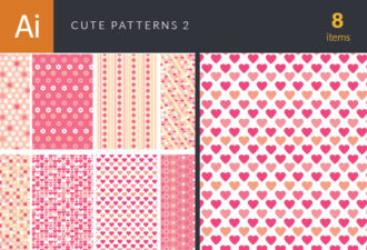 Cute Vector Patterns Set 2 Vector packs patterns