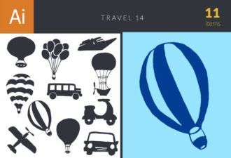 Travel Vector Set 14 Vector packs plane