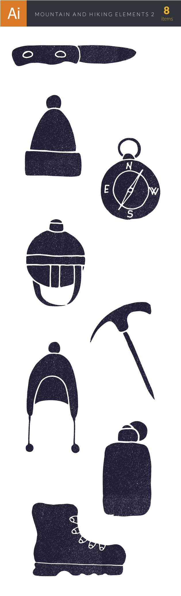Mountain and Hiking Vector Set 2 2