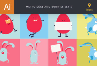 Easter Characters Vector  Set 1 Vector packs spring