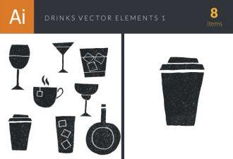 Drinks Elements Set 1 Vector packs glass