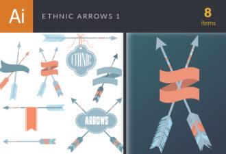 Ethnic Arrows Vector Set 1 Vector packs decorative