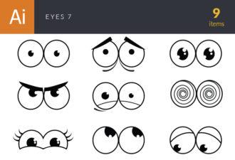 Eyes Vector Set 7 Vector packs people
