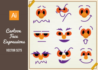 Face Expressions Set 5 Vector packs people