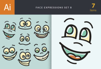 Face Expressions Set 8 Vector packs people