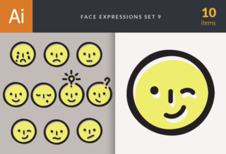 Face Expressions Set 9 Vector packs people