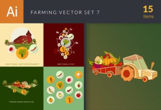 Farming Vector Set 7 Vector packs pumpkin