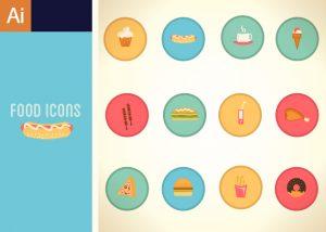 Fast Food Vector Set 1 Vector packs ice cream