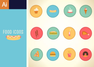 Fast Food Vector Set 1 Vector packs ice cream