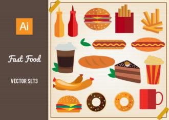Fast Food Vector Set 3 Vector packs pack